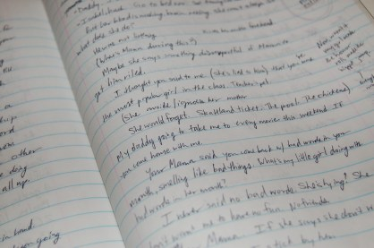 Notebook handwriting