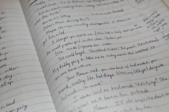 Notebook handwriting
