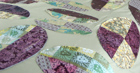Upcycled Oval Patchwork Applique