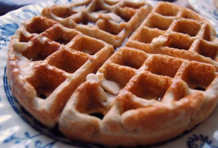 Flourless Oatmeal-Buckwheat Waffle