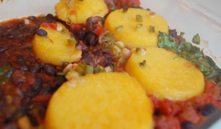 Black Bean and Polenta Casserole