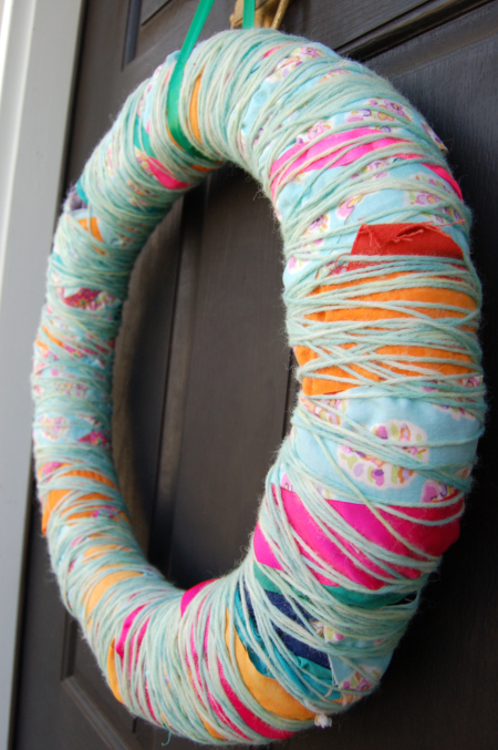 Fiber-Wrapped Wreath