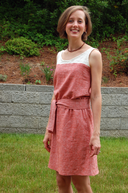 Linen Colorblock Dress