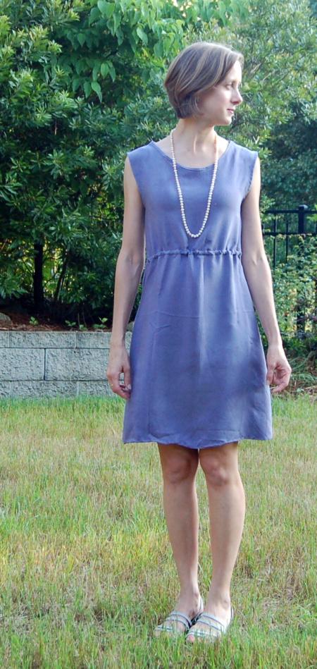Dyed Silk Anda Dress