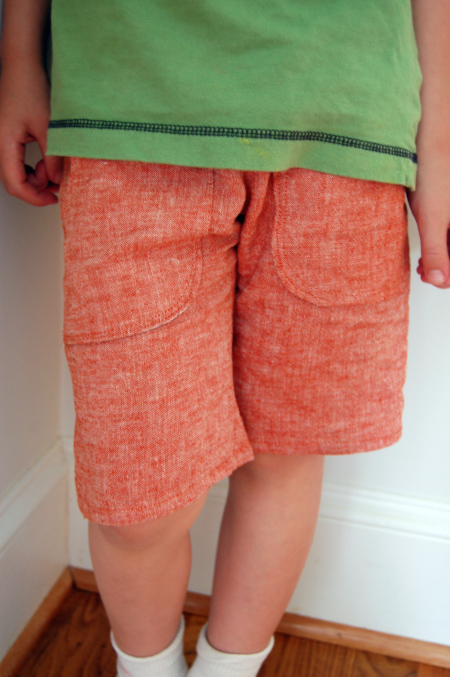 Boy's Linen Shorts