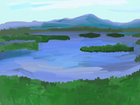 Lake Winnepesaukee Painting