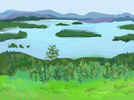 Winnepesaukee Painting