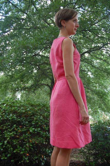 Pink Linen Sundress