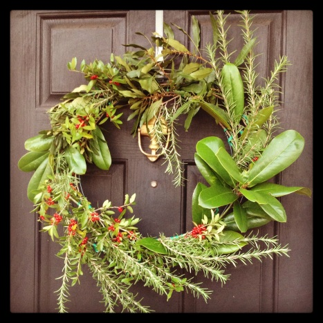 DIY greenery wreath
