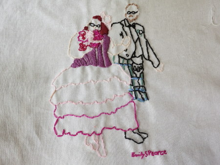 Embroidered Wedding Portrait