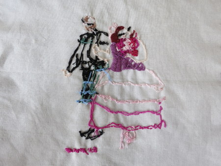 Embroidery backside